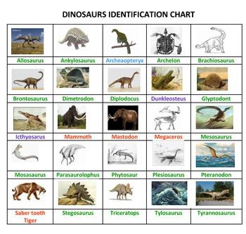 Dinosaurs Sorting Game