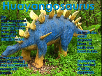 "Dinosaurs: Stegosaurs - ""The Plated Dinosaurs"" PowerPoint"