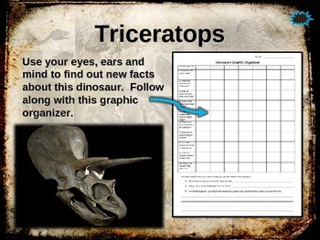 Dinosaurs: TRICERATOPS Ten facts in a dynamic, interactive PPT