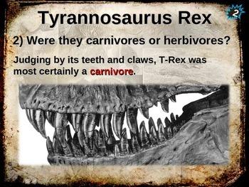 Dinosaurs: TYRANNOSAURUS REX (T-REX) - Ten facts in a dyna