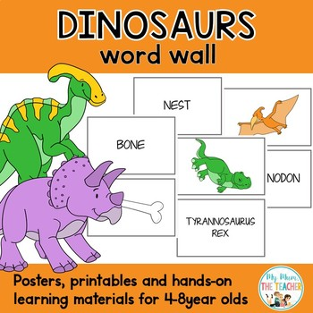 Dinosaurs Thematic Word Wall