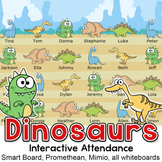 Dinosaurs Theme Attendance for All Whiteboards and Smartboards