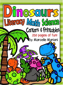 Dinosaurs Theme Pack:Center games, Literacy, Math, Science