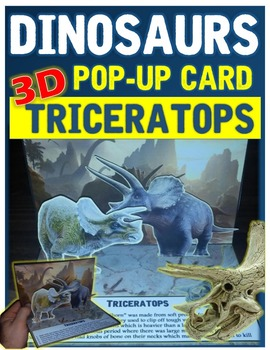 Dinosaurs: Triceratops Pop-Up Card