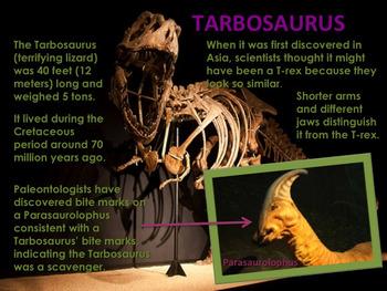 "Dinosaurs: Tyrannosaurs - ""The Tyrant Lizards"" PowerPoint"