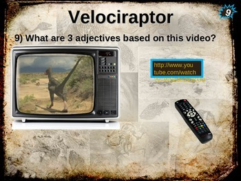 Dinosaurs: VELOCIRAPTOR - Ten facts in a dynamic, interactive PPT