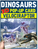 Dinosaurs: Velociraptor Pop-up Card