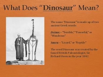 Dinosaurs Vol 1: Fossils - Slideshow Powerpoint Presentation