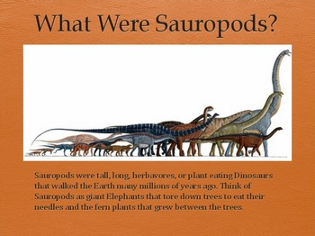 Dinosaurs Vol 3: Sauropods - Slideshow Powerpoint Presentation