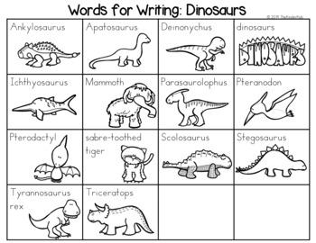 Dinosaurs Word List - Writing Center