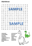 Dinosaur Word Search Pack