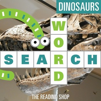 Dinosaurs Word Search - Primary Grades - Wordsearch Puzzle