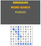 Dinosaurs Word Search Puzzles