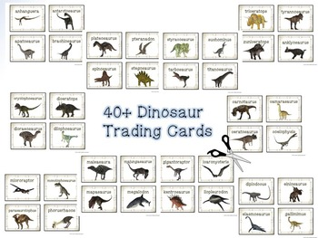 Dinosaurs Word Wall and Research Trading Cards