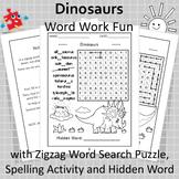 Dinosaurs Word Work Fun