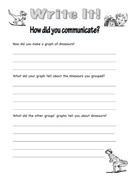 Dinosaurs and Fossils: Communicate by Graphing Primary Science