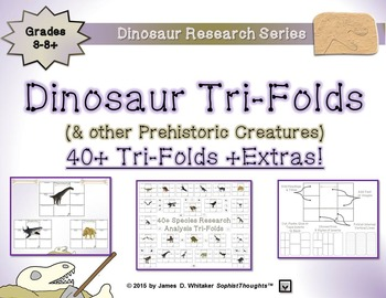 Dinosaurs and Prehistoric Creatures Research Tri-Folds