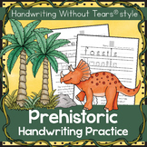 Dinosaurs and Prehistoric Handwriting Without Tears practice - Summer Break