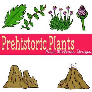 Dinosaurs and Prehistoric Plants Clipart
