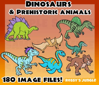 Dinosaurs and Prehistoric animals MEGA set