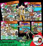 Dinosaurs and other first animals- 136 graphics!