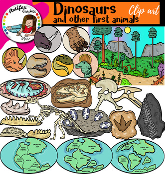 Dinosaurs and other first animals 3
