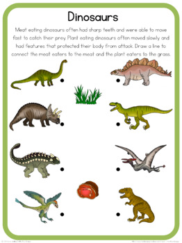 Dinosaurs circle time questions