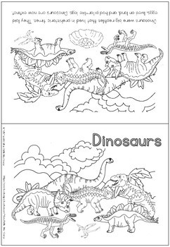 Dinosaurs coloring booklet