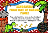Dinosaurs- first day of school pack - free