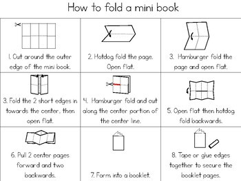 Dinosaurs - mini book (simple)