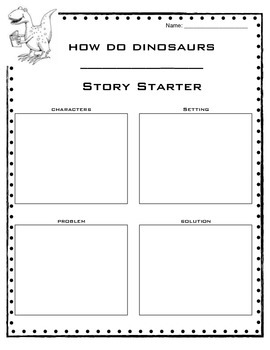 Dinosaurs mini unit - writing activities for fiction and non fiction