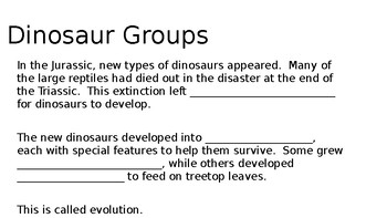 Dinosaurs of the Jurassic Period