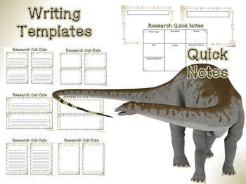 Dinosaurs and Prehistoric Creatures Posters and Research Activities
