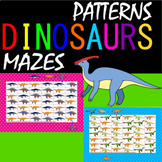 Dinosaurs patterns and mazes