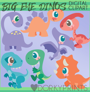 Dinosaurs with Big Eyes Clipart