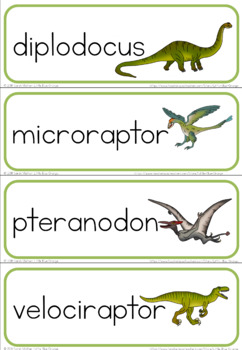 Dinosaurs word wall