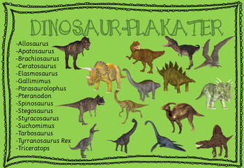 Dinosaurus-plakater