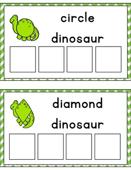 Dinosuar Shape Sorting