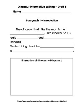 Dinosuars! Informative Writing Packet - CCSS!