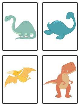 Dinosuars Mini-Set Picture Vocabulary Cards for Kindergarten