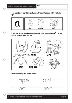Dinstinguishing Beginning Sounds/Letters (55 pages)