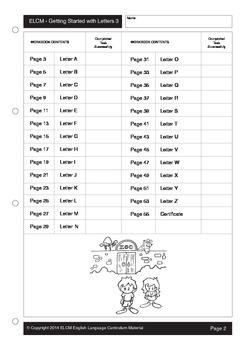 Dinstinguishing Beginning Sounds/Letters (55 pages)