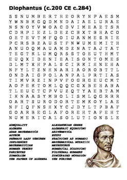Diophantas Word Search