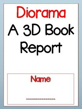 Diorama 3 D Book Report Project
