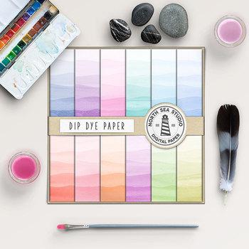 Dip Dye Watercolor Papers