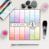 Dip Dye Watercolor Papers