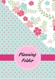 Dip Folder Cover Sheets for Irish NQTs (Floral and Polkadot)