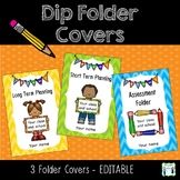 Dip Folder Covers - Editable