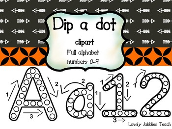 Dip a Dot Clip Art: Arrows and Outlines