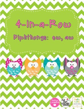 Diphthong 4-in-a-Row - ew, aw